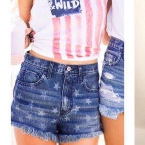 HOLLISTER • Denim Star High Waisted Cutoff Shorts